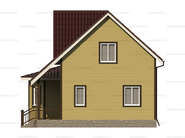 Каркасный дом с пятью комнатами 9х8 фото 4