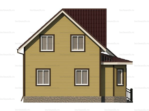 Каркасный дом с пятью комнатами 9х8 фото 6
