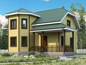 Каркасный дом с пятью спальнями 9 на 8