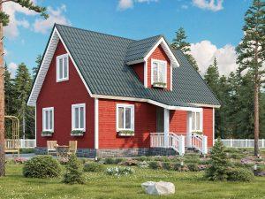 Каркасный дом с четыремя спальнями 6х9