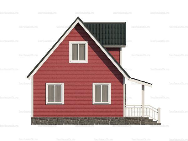 Каркасный дом с четыремя спальнями 6х9 фото 3