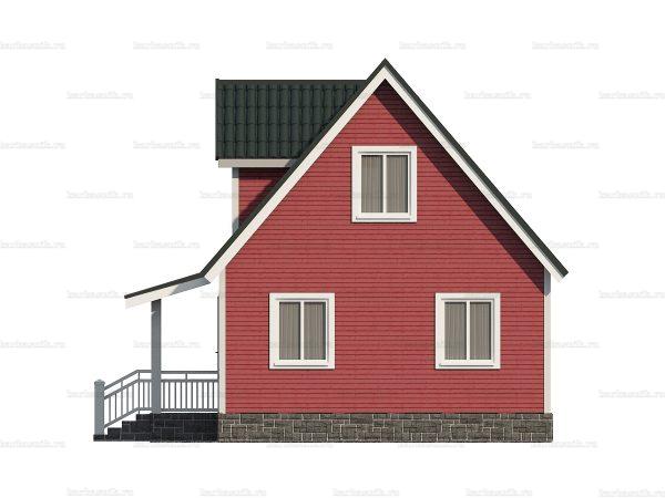 Каркасный дом с четыремя спальнями 6х9 фото 5