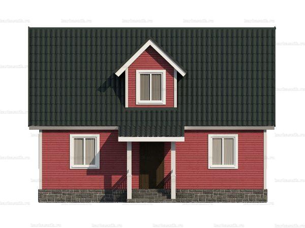 Каркасный дом с четыремя спальнями 6х9 фото 4