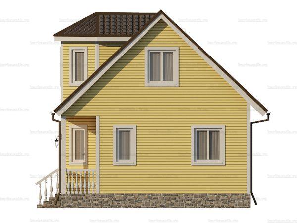 Каркасный коттедж с двухскатной крышей 7х6 фото 3