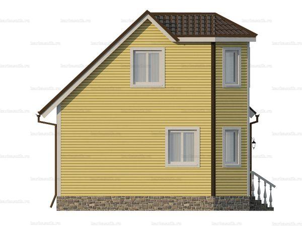 Каркасный коттедж с двухскатной крышей 7х6 фото 5