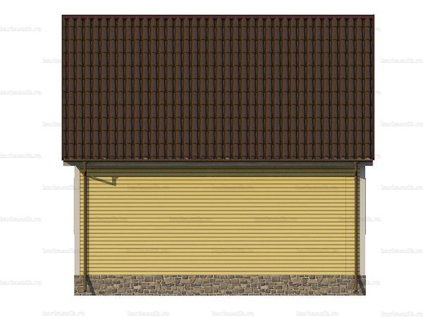 Каркасный коттедж с двухскатной крышей 7х6 фото 4