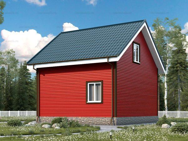 Проект каркасного зимнего дома 7х6 для строительства под ключ