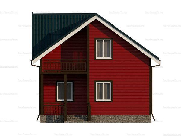 Каркасный коттедж с двумя спальнями 7 на 6 фото 3
