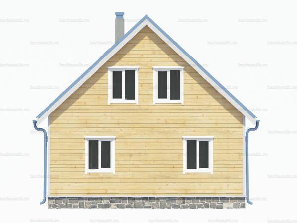 Дом с террасой 9х7.5 фото 4