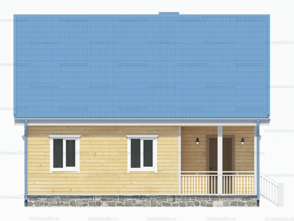 Дом с террасой 9х7.5 фото 5