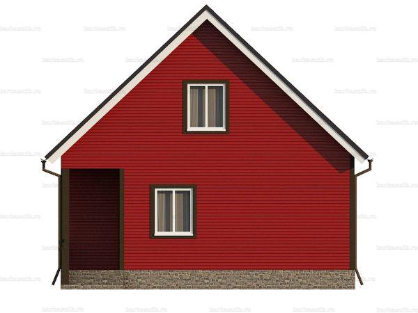 Проект каркасного зимнего дома 9х7.5 для строительства под ключ