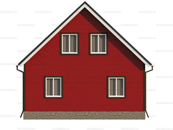 Недорогой коттедж с четыремя комнатами 9х7.5 фото 4