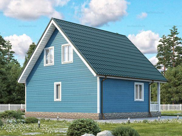 Проект каркасного зимнего дома 8х7.5 для строительства под ключ