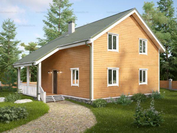 Каркасный дом с котельной 10х8