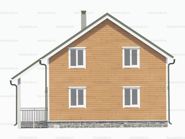 Проект каркасного зимнего дома 10х8 для строительства под ключ