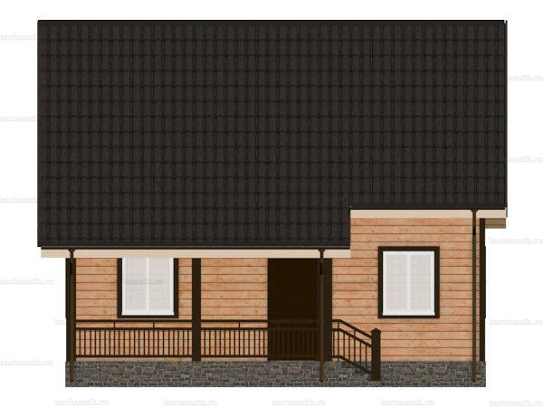 Каркасный коттедж с мансардным этажом 8 на 8 фото 4