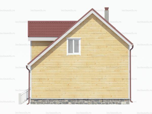 Дом из бруса 8х6 фото 4