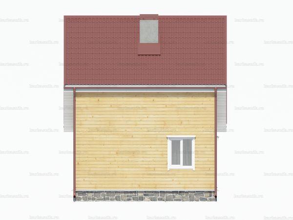 Дом из бруса 8х6 фото 5