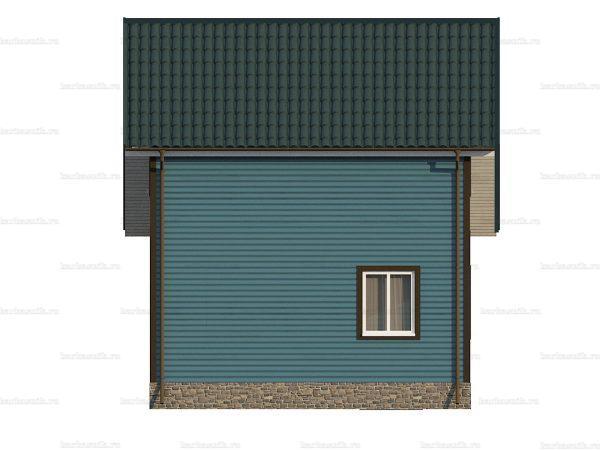 Дом под ключ с двухскатной кровлей 8х6 фото 6