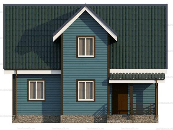 Каркасный дом с эркером 9х7 фото 3