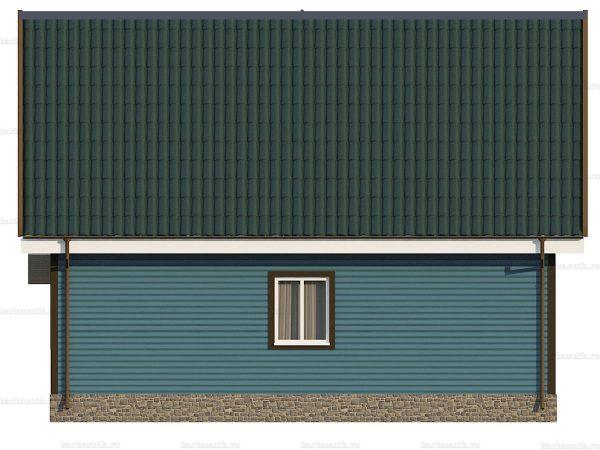 Каркасный дом с эркером 9х7 фото 5