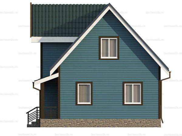 Каркасный дом с эркером 9х7 фото 4
