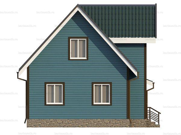 Каркасный дом с эркером 9х7 фото 6