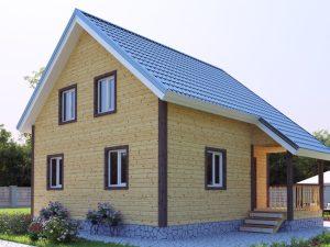 Зимний дом 8х7.5