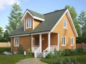 Дом для зимнего проживания 8х8