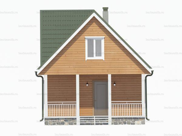 Проект дачного домика 8х6 для проживания
