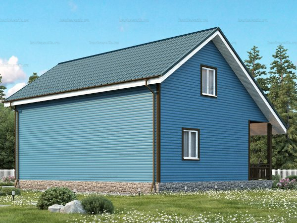Проект каркасного зимнего дома 10.5х7.5 для строительства под ключ