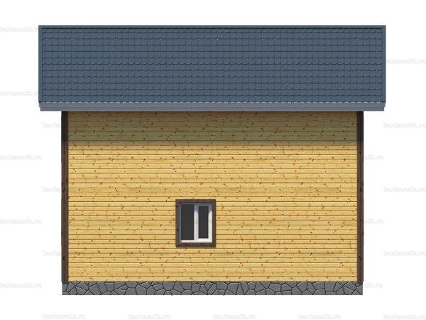 Каркасный дом с балконом 9х8 фото 3