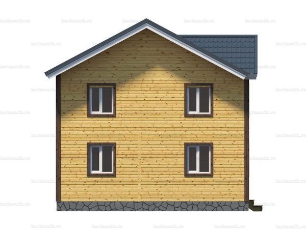 Каркасный дом с балконом 9х8 фото 4