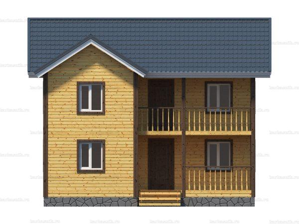 Каркасный дом с балконом 9х8 фото 5