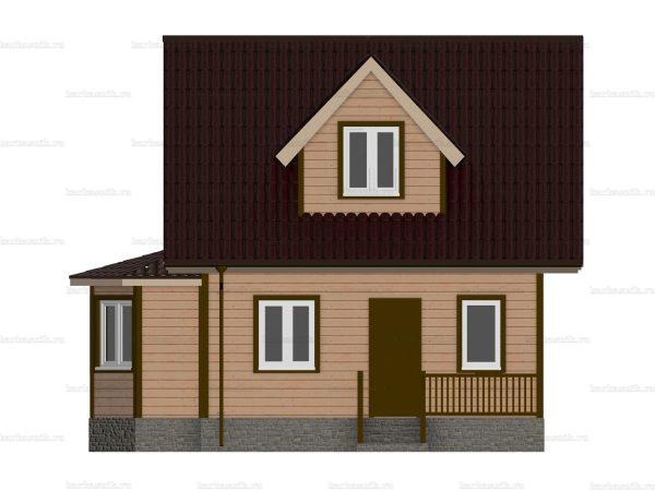 Щитовой дом с эркером 8 на 6 фото 4