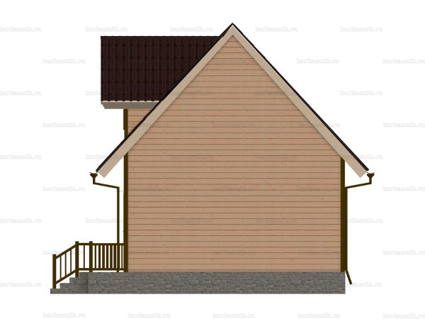 Щитовой дом с эркером 8 на 6 фото 3