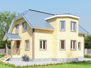 Дом с перегородками 10х10
