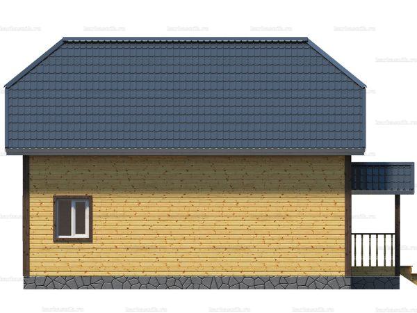 Каркасный дом с полувальмовой крышей 10х10 фото 3