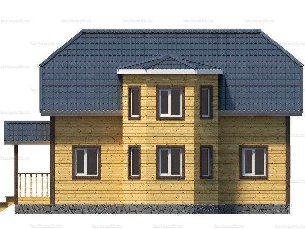 Каркасный дом с полувальмовой крышей 10х10 фото 5