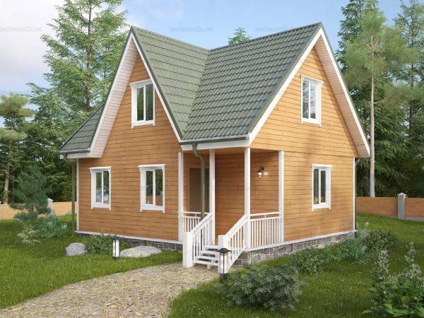 Строительство дачного дома 8х6