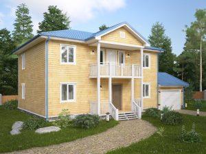 Каркасный дом с гаражом 10х9
