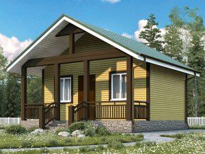 Дачный дом для проживания зимой 6х6