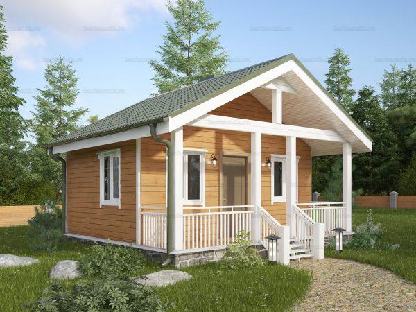 Дом с одной спальней 6х6