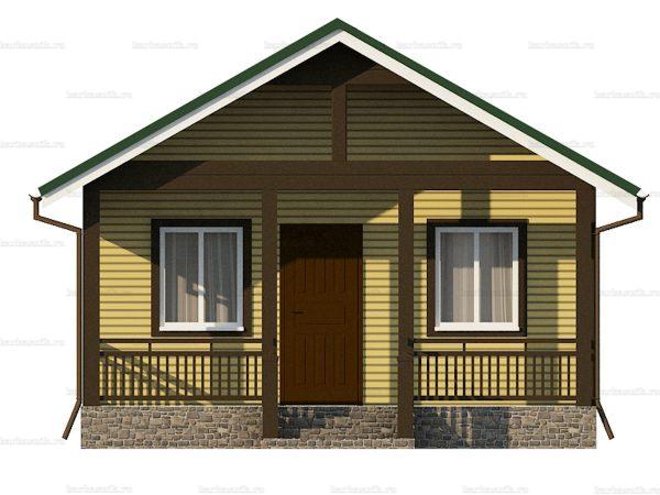 Дачный дом для проживания зимой 6х6 фото 3