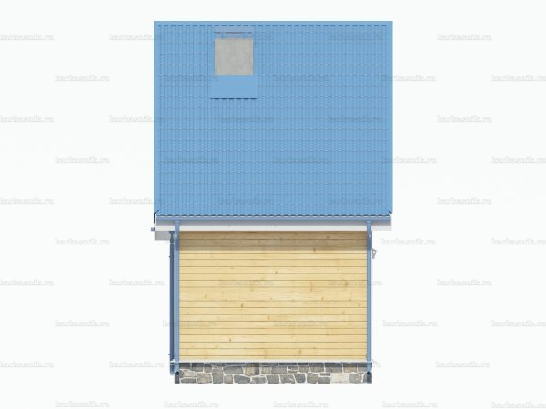 Брусовой дом 6х4 фото 4