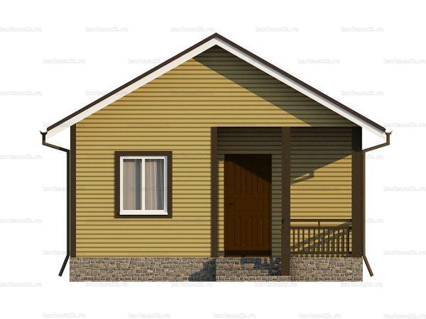Проект каркасного зимнего дома 7.5х6 для строительства под ключ