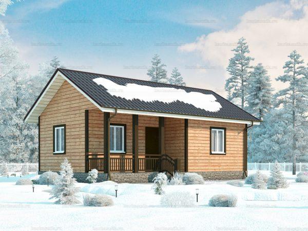 3D-проект каркасного дома 6х9