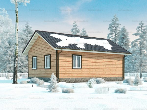 Проект каркасного зимнего дома 9х6 для строительства под ключ