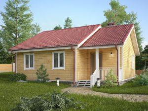 Дом из бруса естественной влажности 9х8