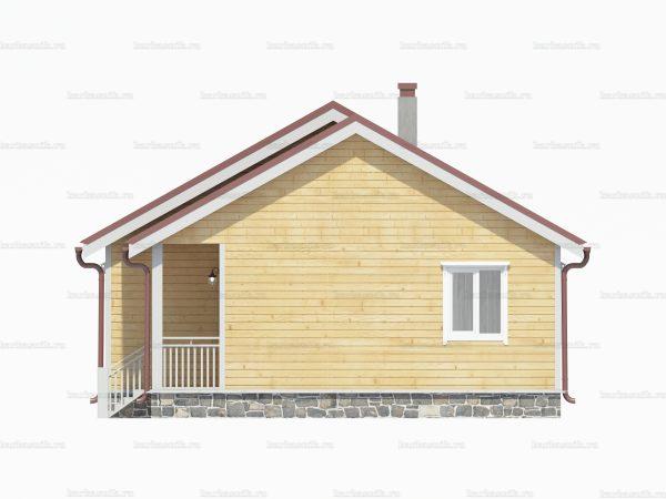 Дом из бруса естественной влажности 9х8 фото 3